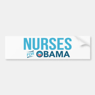 Nurses For Barack Obama Bumper Sticker (White)