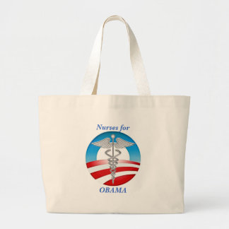 Nurses for OBAMA Large Tote Bag