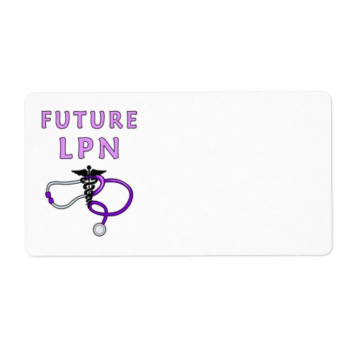 Nurses Future LPN Personalized Shipping Label