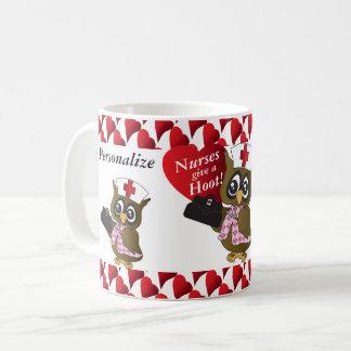 Nurses Give a Hoot! Nurse Owl Coffee Mug