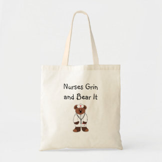 Nurses Grin and Bear It Tote Bag