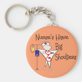 Nurse's Have Big Shoulders--Story Art Gifts Keychain