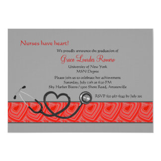 Nurses Have Heart Graduation Invitation