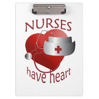 Nurses Have Heart Nurses Cute Clipboard