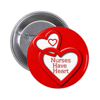 Nurses Have Heart Red Hearts 2 Inch Round Button