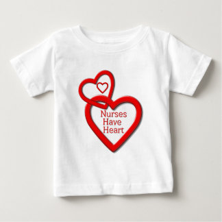 Nurses Have Heart Red Hearts Baby T-Shirt