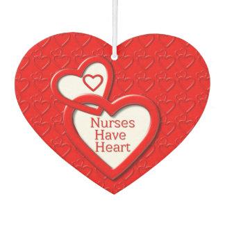 Nurses Have Heart Red Linked Hearts Nurses Day Air Freshener