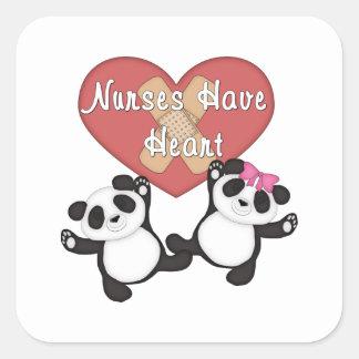 Nurses Have Heart Square Sticker