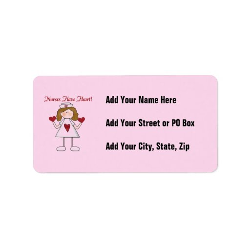 Nurses Have Heart T-shirts and Gifts Custom Address Labels