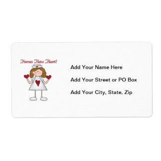 Nurses Have Heart T-shirts and Gifts Shipping Label