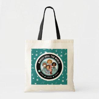 Nurses Heal the World. Gift Nurse Tote Bags