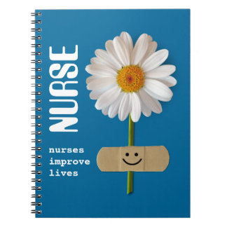 Nurses improve lives. Gift Notebook