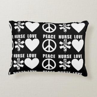Nurses Love Peace Decorative Pillow