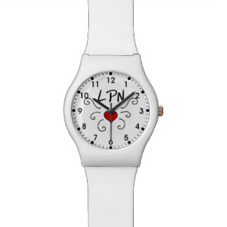 Nurses LPN Love Tattoo Watch