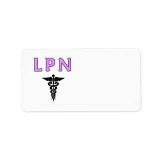 Nurses LPN Medical Address Label