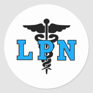 Nurses LPN Medical Symbol Round Sticker