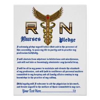 Nurses Pledge 16X20 Please View About Design Poster