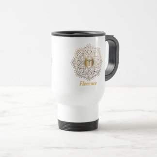 Nurses RN LPN Caduceus Nursing Monogrammed Name Travel Mug