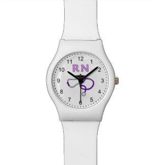 Nurses RN Stethoscope Watch