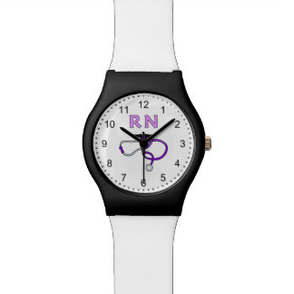 Nurses RN Stethoscope Watch