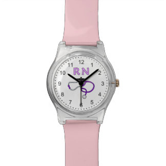 Nurses RN Stethoscope Wristwatch
