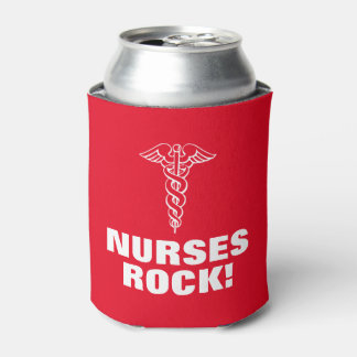 NURSES ROCK can cooler for nurses week nursing day