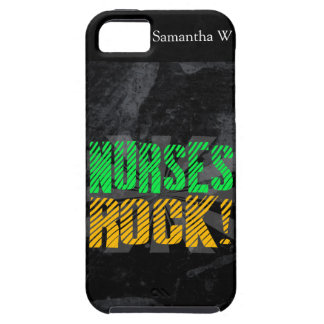 Nurses Rock, Orange and Green Fun iPhone 5 Covers