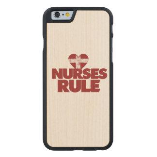 Nurses RULE Carved® Maple iPhone 6 Case