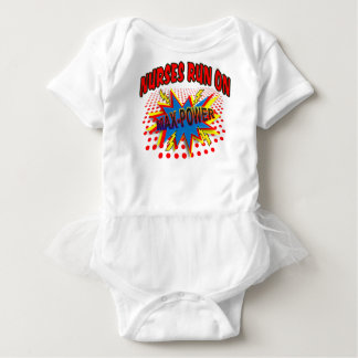NURSES RUN ON MAX-POWER BABY BODYSUIT