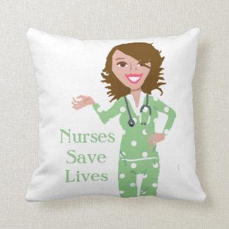 Nurses Save Lives Throw Pillow