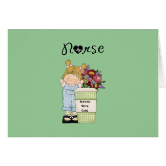Nurses Serving With Care Note Card