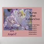 NURSES Week Celebration Poster Nurses are Angels