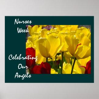 Nurses Week poster Celebrating Our Angels Nursing