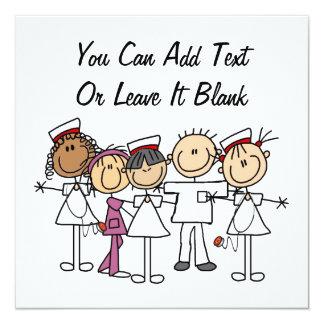 "Nurses Week T-shirts and Gifts 5.25"" Square Invitation Card"