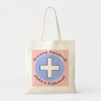 "Nursing Assistant Gifts ""Making a Difference"" Tote Bag"