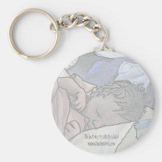 Nursing Baby Basic Round Button Keychain