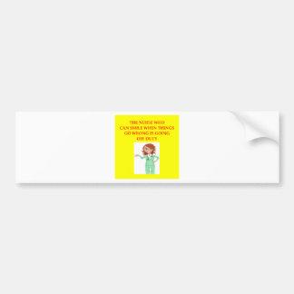 nursing bumper sticker