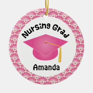 Nursing Graduation personalized gift Ceramic Ornament