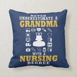 Nursing Grandma Throw Pillow