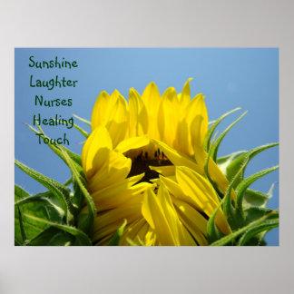 Nursing Healing Touch art print Sunshine Laughter