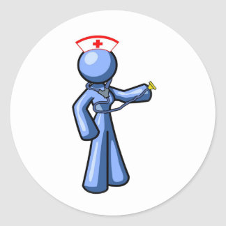 Nursing Icon Animation Classic Round Sticker