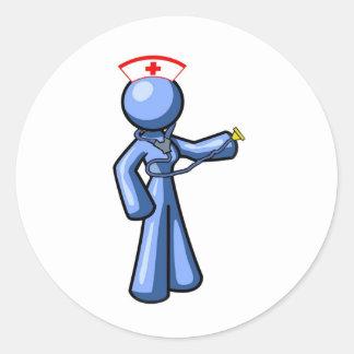 Nursing Icon Animation Round Sticker