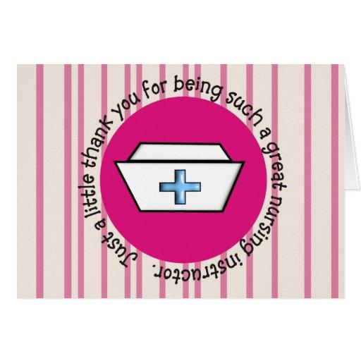 Nursing Instructor Appreciation Card