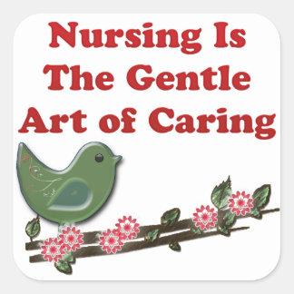 Nursing Is Caring Square Sticker