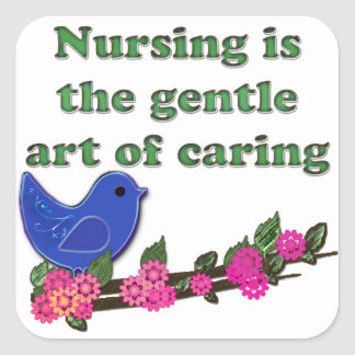 Nursing Is Caring Square Sticker