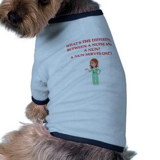 nursing joke dog tee shirt