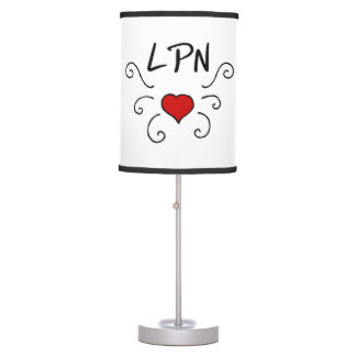 Nursing LPN Nurse Love Table Lamp