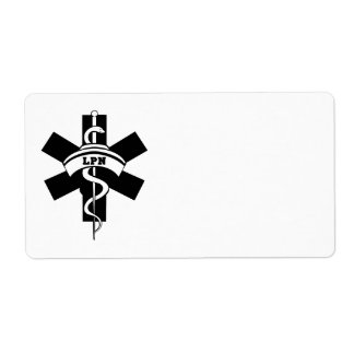 Nursing LPN Nurses Shipping Label