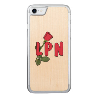 Nursing LPN Rose Carved iPhone 7 Case