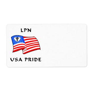 Nursing LPN USA Pride Shipping Label